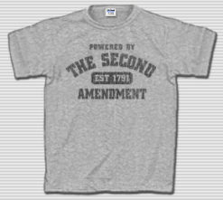 Powered by the Second Amendment T-Shirt