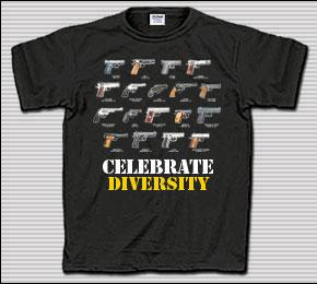 Celebrate Diversity Gun T-Shirt
