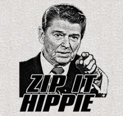 Zip It Hippie Ash Grey T-Shirt