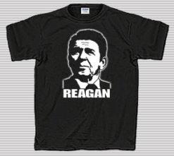 Reagan on Black T-Shirt