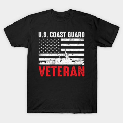 US Coast Guard Veteran American Flag USCG Gift