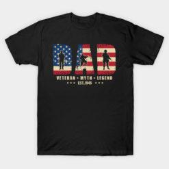 Dad Veteran Myth Legend Est 1945 Vintage Gift For Men
