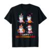 Unicorn Halloween And Merry Christmas Happy Hallothanksmas T-Shirt