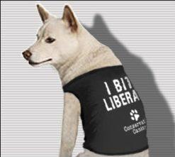 I Bite Liberals - Dog T-Shirt