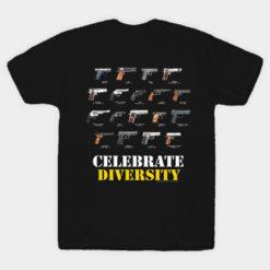 Celebrate Diversity - Black Version T-Shirt