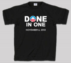 Obama Done in One T-Shirt