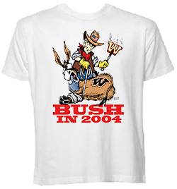 BUSH IN 2004 Branded Donk - Back Design T-Shirt