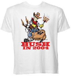 BUSH IN 2004 Branded Donk 11oz. Coffee Mug T-Shirt
