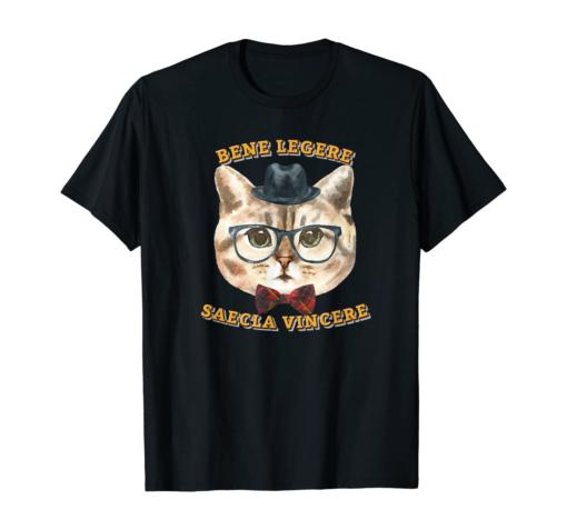 Hemingway Cats Latin Phrase T-shirt, Latin Phrases