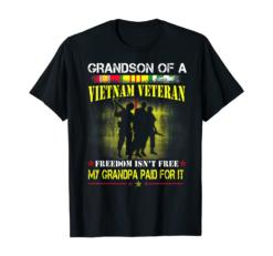 Mens Vietnam Veteran Grandson Shirt My Grandpa Paid For It