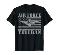 Veteran US Air Force - American Flag Veterans Mens Top T-Shirt