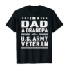 Dad Grandpa US Army Veteran Vintage Top Men's Gift T-Shirt
