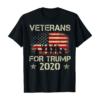 Veterans For Trump 2020 Vintage American Flag Patriotic Gift T-Shirt