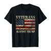 Vintage Veterans Against Trump American Flag T-Shirt