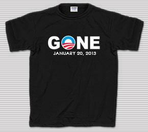 Obama Gone January 2013 T-Shirt