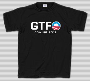 Obama GTFO Coming 2012 T-Shirt
