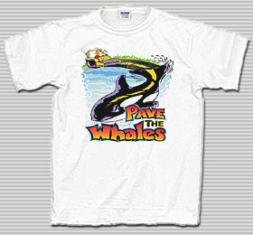 Pave the Whales White T-Shirt