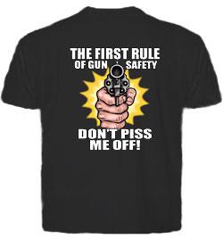 FIRST RULE OF GUN SAFETY T-Shirt