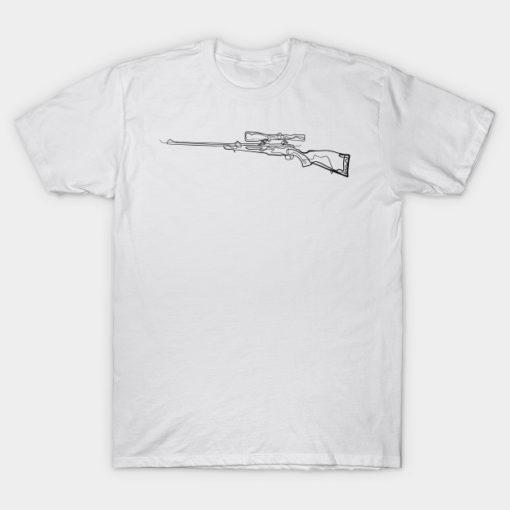 Rifle Hunters - One Line Drawing