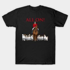 Hunting T Shirt Bow Hunter American Flag Buckwear Buck Silhouette Hunt Art Hunt Gifts Tee