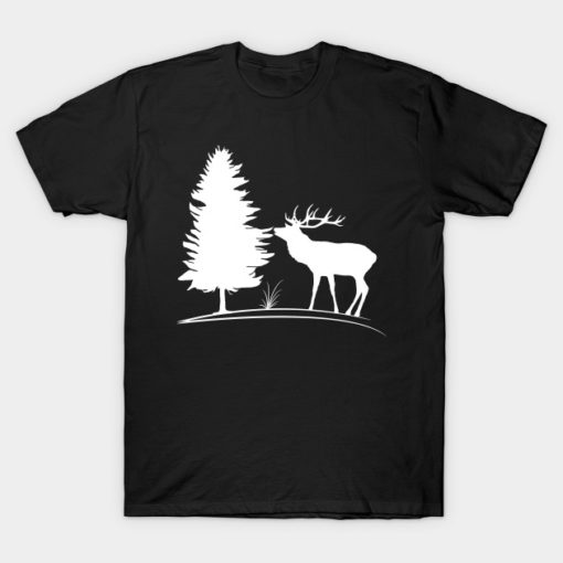 deer, stag, wild animals, hunting, hunter, trees, forester