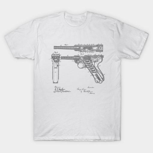 Gun Design Vintage Patent Hand Drawing