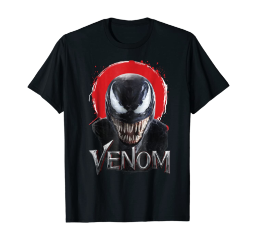 Marvel Venom Red Splatter Halo Graphic T-Shirt