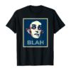 Funny Halloween Vampire BLAH Campaign Poster Tee T-Shirt