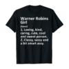 WARNER ROBINS GIRL GA GEORGIA Funny City Home Roots Gift T-Shirt