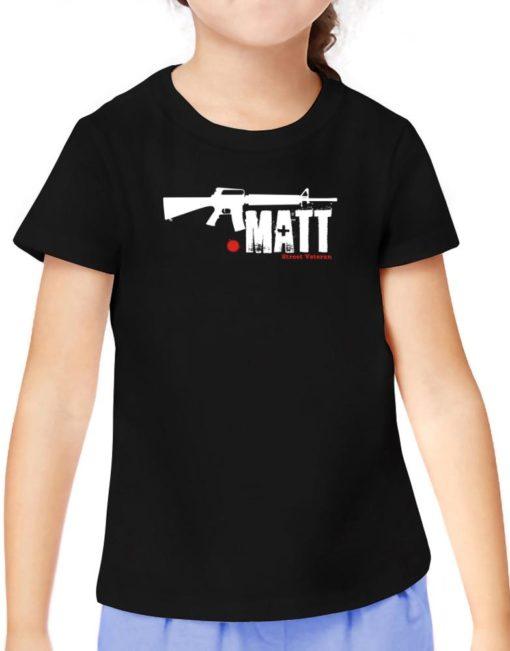 Matt Street Veteran T-Shirt Girls