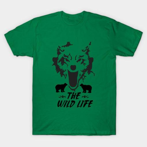 Wild Life Bear T-Shirt, Motherhood Momlife Shirt, Gift for Mom, Shirts with Sayings, Bear Hunting Shirt, Mothers Day Tee