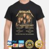 Metallica 39th 1981 2020 anniversary thank you for the memories signatures shirt