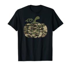 Camo Pumpkin Military Tactical Halloween costume Lazy easy T-Shirt