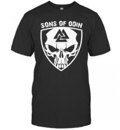 Skull Valhalla Sons Of Odin T-Shirt