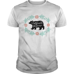 Bear California Love Flower shirt