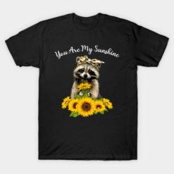You are my sunshine t-shirt sunflower skull funny gift tshirt