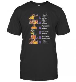 Los Angeles Lakers Basketball Signatures T-Shirt