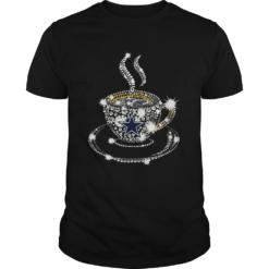 Coffee Dallas Cowboys rhinestone shirt