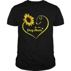 Heart shaped sunflower and dog mom shirt